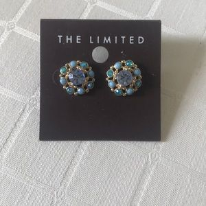 The Limited Assorted Blue Gem Statement Earrings